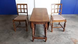 ANTIQUE SOLID OAK BARLEY TWIST OVAL GATE LEG DROP LEAF DINING - Gateleg kitchen table