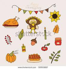set elements items that represent autumn stock vector 491677318
