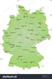 Map Of Munich Germany by Stylized Map Germany Showing States Rivers Stock Illustration