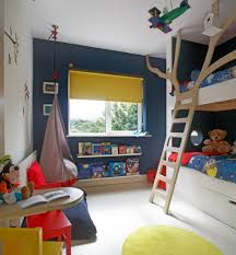 Dark Blue Accent Wall by Kids Hanging Chair Kids Contemporary With Blue Accent Wall Boys