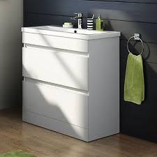 White Vanity Unit And Basin Modern Bathroom Vanity Units Ebay