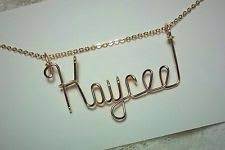 Name Engraved Necklace Personalized Necklace Any Name 14 K Gold Filled Wire Jewelry