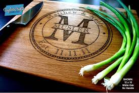 monogramed cutting boards taylorcrafts engraved taylorcrafts engraved