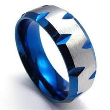 stainless steel mens rings blue and silver stainless steel men s ring special offer retail