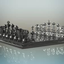 glass chess set by deepocean3d 3docean