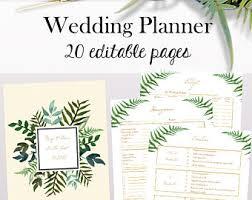 wedding planner printable wedding planner book printable