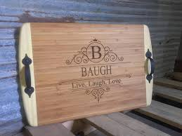 engraved serving tray cutting boards trays baughbuilt