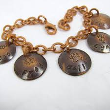 Name Charm Copper Charm Bracelet Name Charms Name U0026 Theme Mom Bracelet