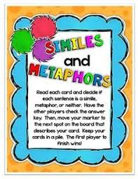 similes and metaphors activities figurative language simile and
