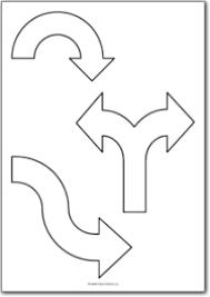 curved arrow shapes free printables free printable shape templates