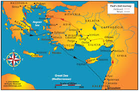 Map Of Athens Greece by Pauls 2nd Journey Thessalonica Called The Co Capital Of Greece