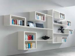 wall bookshelf ideas impressive minimalist wall bookshelves design in white finish with