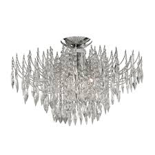 Searchlight Ceiling Lights Searchlight Waterfall Chrome Finish Ceiling Light