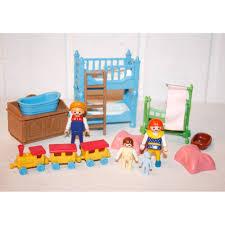 chambre enfant playmobil chambre d enfant 1900 bleue play original