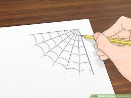 draw 3 ways to draw a spider web wikihow