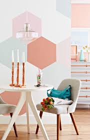 painted hexagonal wall decorations