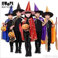 toddler cap and gown children costumes kids witch wizard cloak gown robe with