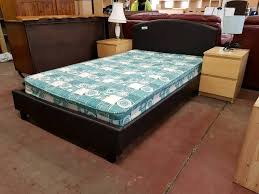 3 Quarter Bed Frame Brown Leather Three Quarter Bed Frame And Mattress Set In
