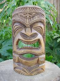 vintage carved hawaiian tiki statue polynesian wood carving