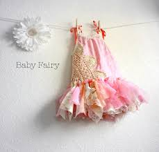 shabby chic fairy dress 12 months pink sundress eco friendly