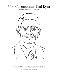 vote 2012 presidential election coloring book rep paul ryan