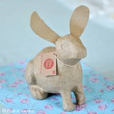 paper mache rabbit paper patch rabbit torie jayne