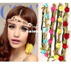 leather headband wholesale bohemian headband for women flowers braided leather