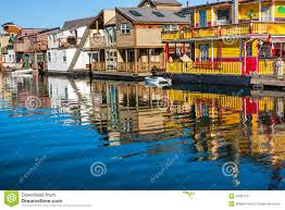 floating houses floating home village houseboats inner harbor victoria canada