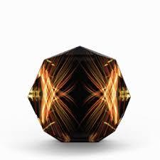 black and gold acrylic awards zazzle