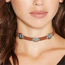 leather necklace women images 2017 new brown leather rope necklaces goth fashion designer collar jpg