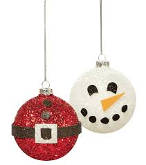 glittered snowman and santa belt ornament joann