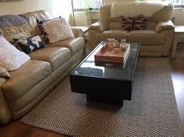 ikea glass top coffee table with drawers ikea ramvik dark brown glass top coffee table with drawers in
