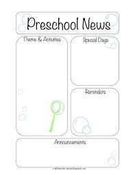 newsletter kindergarten newsletter template