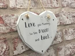 personalised shabby chic white heart plaque sign for mum love you