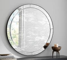 Pottery Barn Mirrors Bathroom by Walker Antiqued Round Glass Mirror Pottery Barn 42