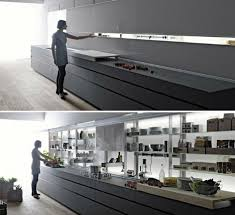 sleek self contained kitchen design disguises clutter