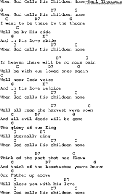 country southern and bluegrass gospel song when god calls his