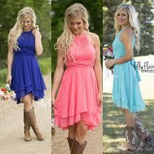 royal blue pink chiffon short bridesmaid dresses plus size