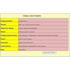 Project Change Control Template Download at: ProjectTemplates.biz