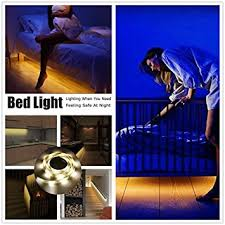 motion activated led light strip amazon com motion activated under bed light ainatu sensor night