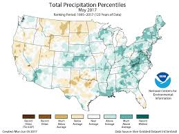 Precipitation Map Of The United States by Assessing The U S Climate In May 2017 National Centers For