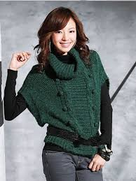cute ball of yarn embellished batwing sleeve sweater green