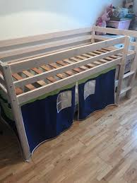 Mid Sleeper Bunk Bed With Kids Play Curtain In Dumbarton West - Mid sleeper bunk bed