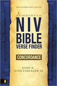 niv bible verse finder john kohlenberger iii 9780310292050