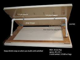 How To Build Drafting Table Diy Adjustable Drawing Table Made With 6 Ikea Top Projecten Om