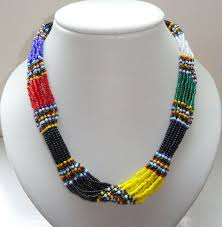 coloured beads necklace images Masai rope bead necklace jpg