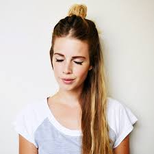 buns hair 7 easy half up half bun tutorials thefashionspot