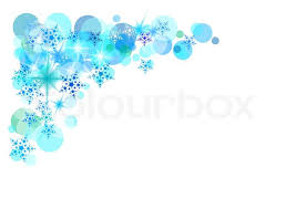christmas snow background with nice blue snowflakes stock vector
