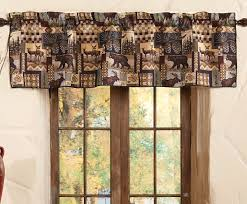 Black Window Valance Woodland Cabin Valance Woodlands Peters Cabin Straight Tailored