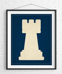 chess art rook chess piece print board game art game room wall